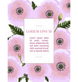 poppy flowers pattern pink floral vector image