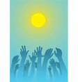 Raised hands vector | Price: 1 Credit (USD $1)