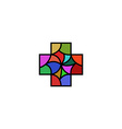 Religious or medical logo in the shape of a cross vector image vector image
