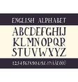 Retro alphabet font vector image vector image