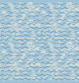 sea background with blue waves and brush strokes vector image