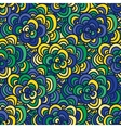 Seamless doodle pattern in the colors of the vector image vector image