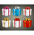 Set of realistic 3d gift boxes vector image vector image