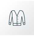 short cardigan icon line symbol premium quality vector image vector image