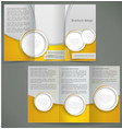 silver brochure layout design with yellow vector image vector image