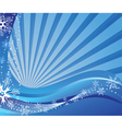 snowflakes waves vector image vector image