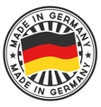 Stamp with flag of the Germany Made in Germany vector image