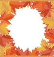 sticker autumn style falling leaves greeting vector image vector image
