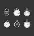 stopwatch icon set grey vector image vector image