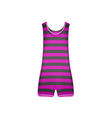 Striped retro swimsuit in purple and black design vector image vector image