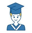 student graduation cartoon vector image vector image
