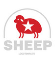 stylized drawing of sheep vector image vector image