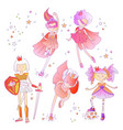 superhero princess little teen girl as a vector image vector image