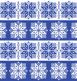 Traditional ornamental winter navy knitted pattern vector image vector image