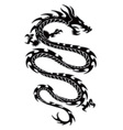 tribal dragon tattoo vector image