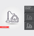 vacuum cleaner line icon with editable stroke vector image vector image