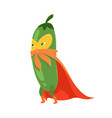 vecor with cartoon flat cucumber vector image vector image