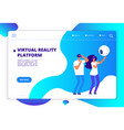virtual augmented reality people with mobile vector image vector image