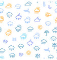 weather forecast thin line seamless pattern vector image vector image