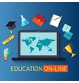 Web banner concept for online education vector image vector image