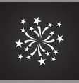 wedding salut icon on black background for graphic vector image vector image