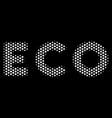 white dot eco text icon vector image vector image