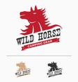 Wild horse logo template
