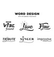 word design with microphone vector image vector image
