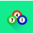 Billiard Balls Icon vector image