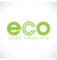 Eco Leaf Abstract Logo Template vector image