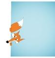 Peeping cartoon fox vector image
