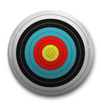 3d realistic target vector image vector image