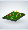 abstract soccer field with players football team vector image vector image