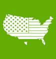 american map icon green vector image vector image