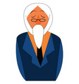an old man with his long white beard is in his vector image