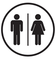Bathroom Sign Icon vector image vector image