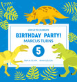 birthday party banner template placard vector image vector image