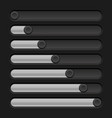 black slider bar settings on control panel vector image vector image
