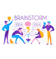 brainstorm team working creating idea man and vector image vector image