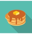 Breakfast Sweet Pancake Icon in Modern Flat Style vector image vector image