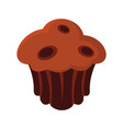 brownie colorful bakery product icon vector image