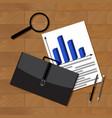 business statistics top view vector image vector image
