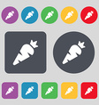 Carrot Vegetable icon sign A set of 12 colored vector image vector image