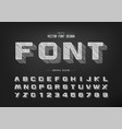 chalk shadow bold font and alphabet pencil vector image vector image