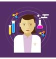 chemist scientist lab woman vector image
