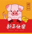 chinese new year of pig 2019 holiday greeting card vector image vector image