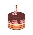 chocolate pancake birthday graphic vector image vector image