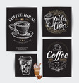 coffee time hipster vintage stylized lettering vector image
