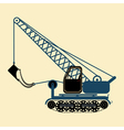 color icon with construction equipment vector image vector image