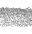 crowd people on stadium cheering soccer with vector image vector image